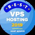 Przyznawana firmom z pierwszej 10-tki najlepszych w kategorii najlepszy hosting vps.