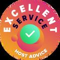 """Spędzliśmy sporo czasu, aby osobiście i anonimowo sprawdzić każdą firmę i oferowany przez nią poziom obsługi klienta Przyznaliśmy """"Odznakę doskonałości"""" każdej firmie hostingowej, która spełniła wysokie standardy HostAdvice pod względem jakości obsługi klienta, udowadniając, że jej usługi są wysokiej jakości, skuteczne, wydajne i co najważniejsze, pomocne."""